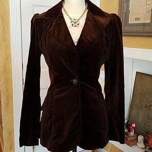 Legit Vintage Chocolate Brown Velvet Blazer